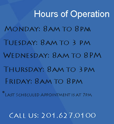 Hours of Operation for Bergen County PICTURE